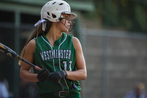 Senior softball player finishes last inning