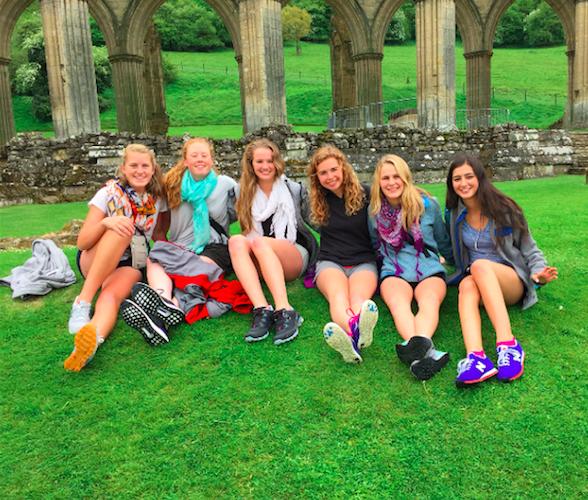 Senior Girls at Rievaulx Abbey in North Yorkshire, England
