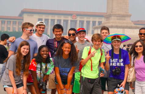 Students in the Forbidden City in China
