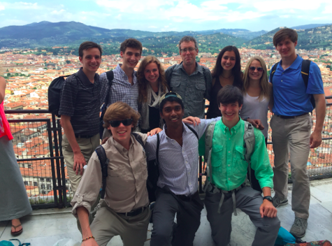 Seniors on top of the duomo (cathedral) in Florence, Italy