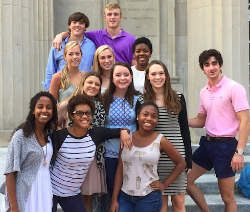 From Left to Right: Row 4 – John Kibler, Tyler Gillikin; Row 3 – Claudia Ziegler, Margaret Maxwell, Ashley Daniels; Row 2 – Meghan Cobler, Laura Schramm, Pierson Klein, Zack Saffran; Row 1 – Berhan Getachew, Drew Borders, Tate Burwell; Not Pictured - Joseph Rodriguez, Kate Cordle, Morgan Brister, Emily Cooper