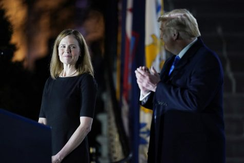 Amy Coney Barrett at hr confirmation on Oct. 26, 2020.