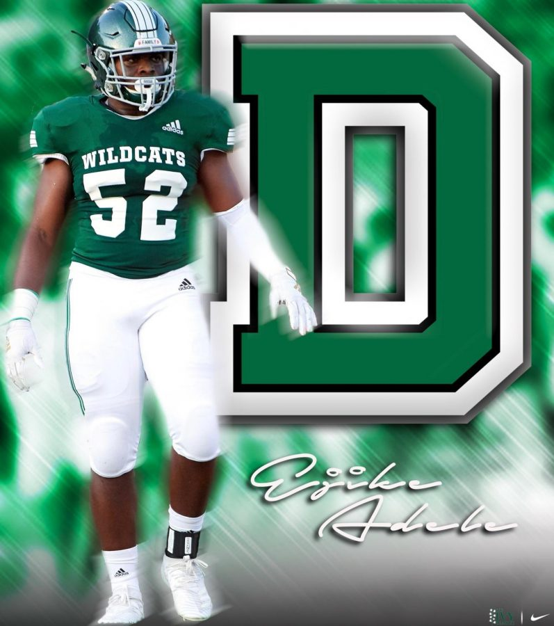 Adele recently announced his commitment to play football at Dartmouth College.