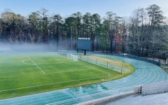 The Westminster track is where track athletes practice and where track meets are held. Credit Sunanya Guthikonda