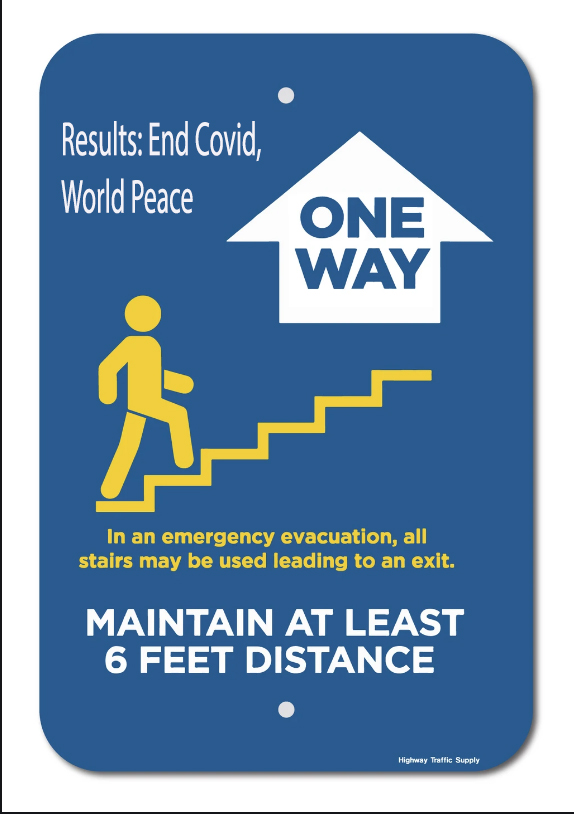 One-way stairs bring world peace